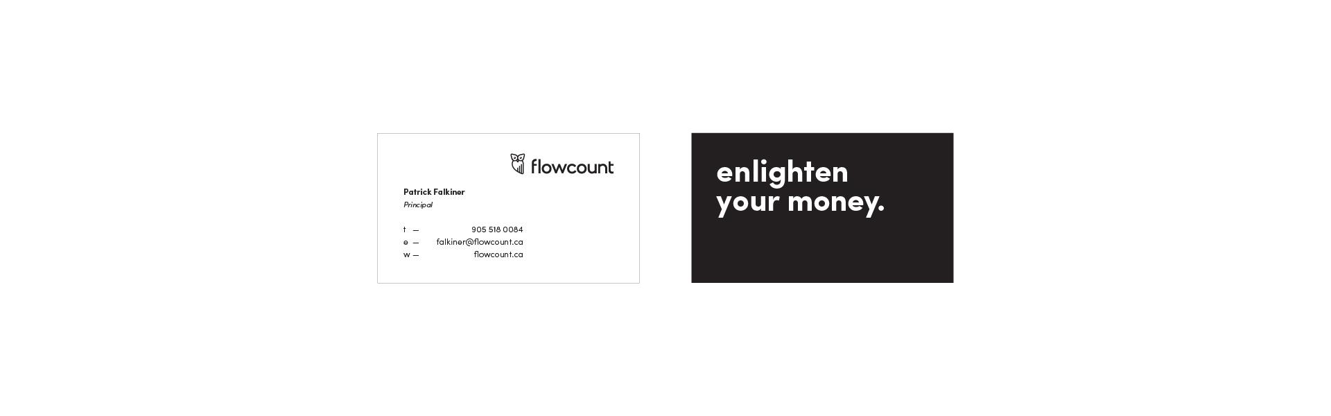 Flowcount Business Card Design