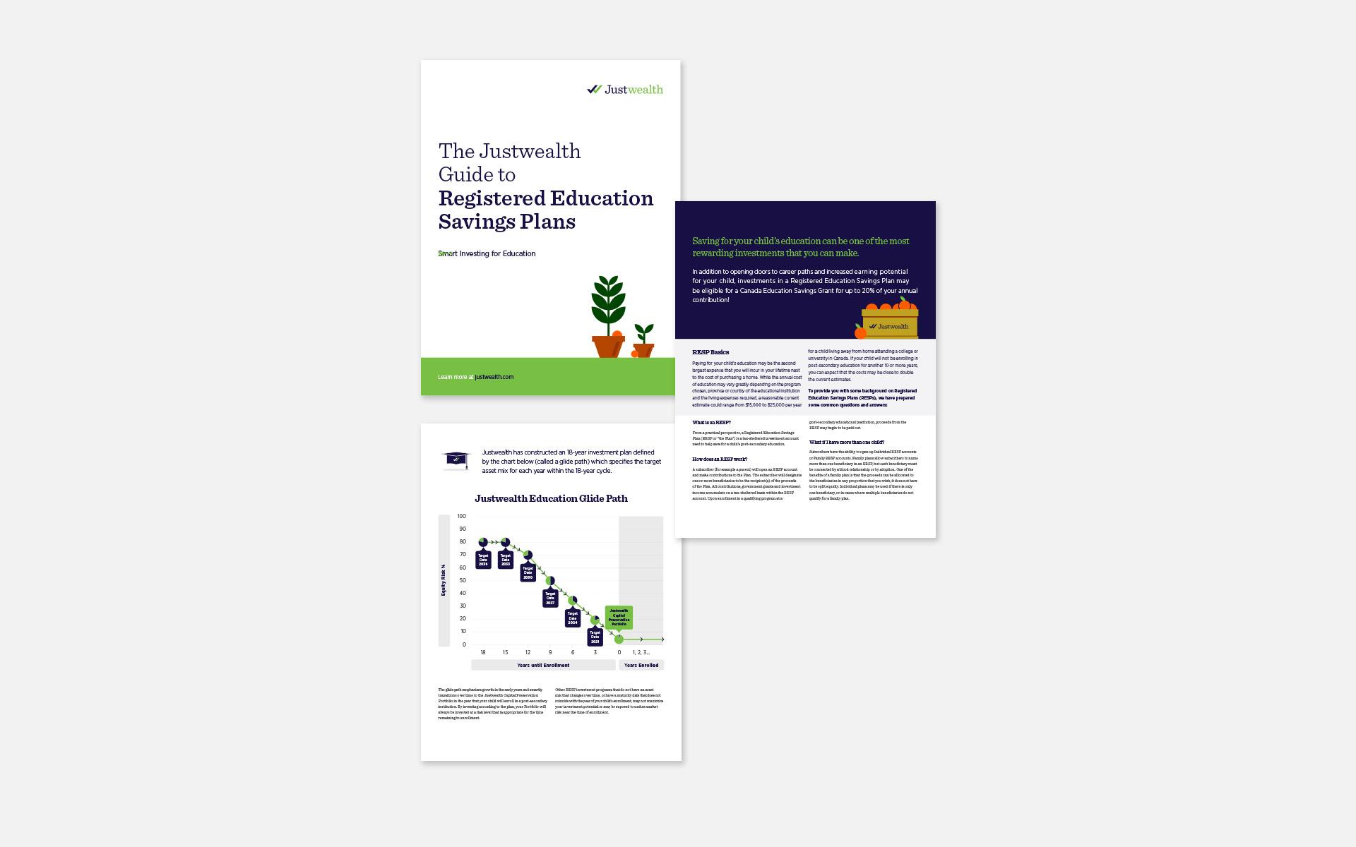 Justwealth RESP Brochure Design