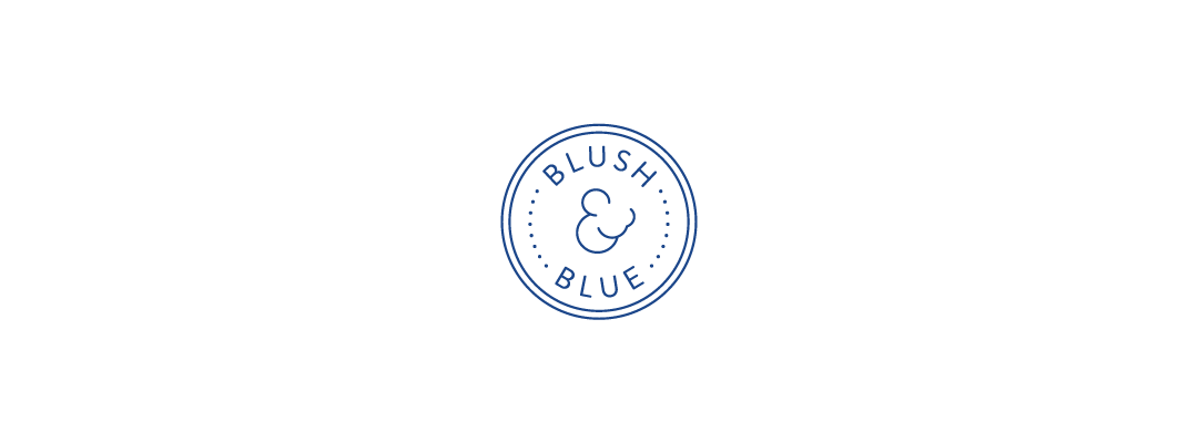 blush & blue logo design