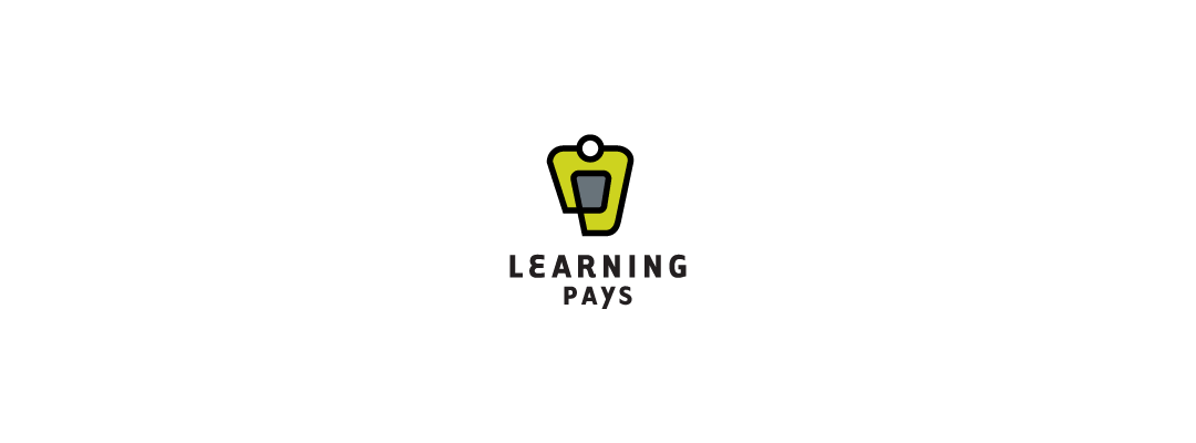learning pays logo design